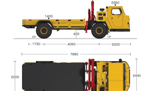 12T Delivery Truck_Dims