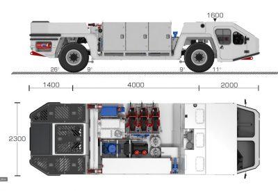 FLP 3M4T Maintenance Lube unit_Dims